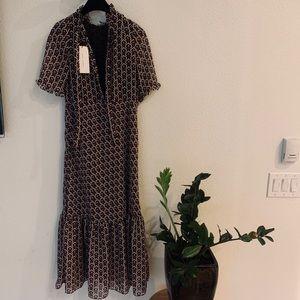 Zara runway abstract pattern dress